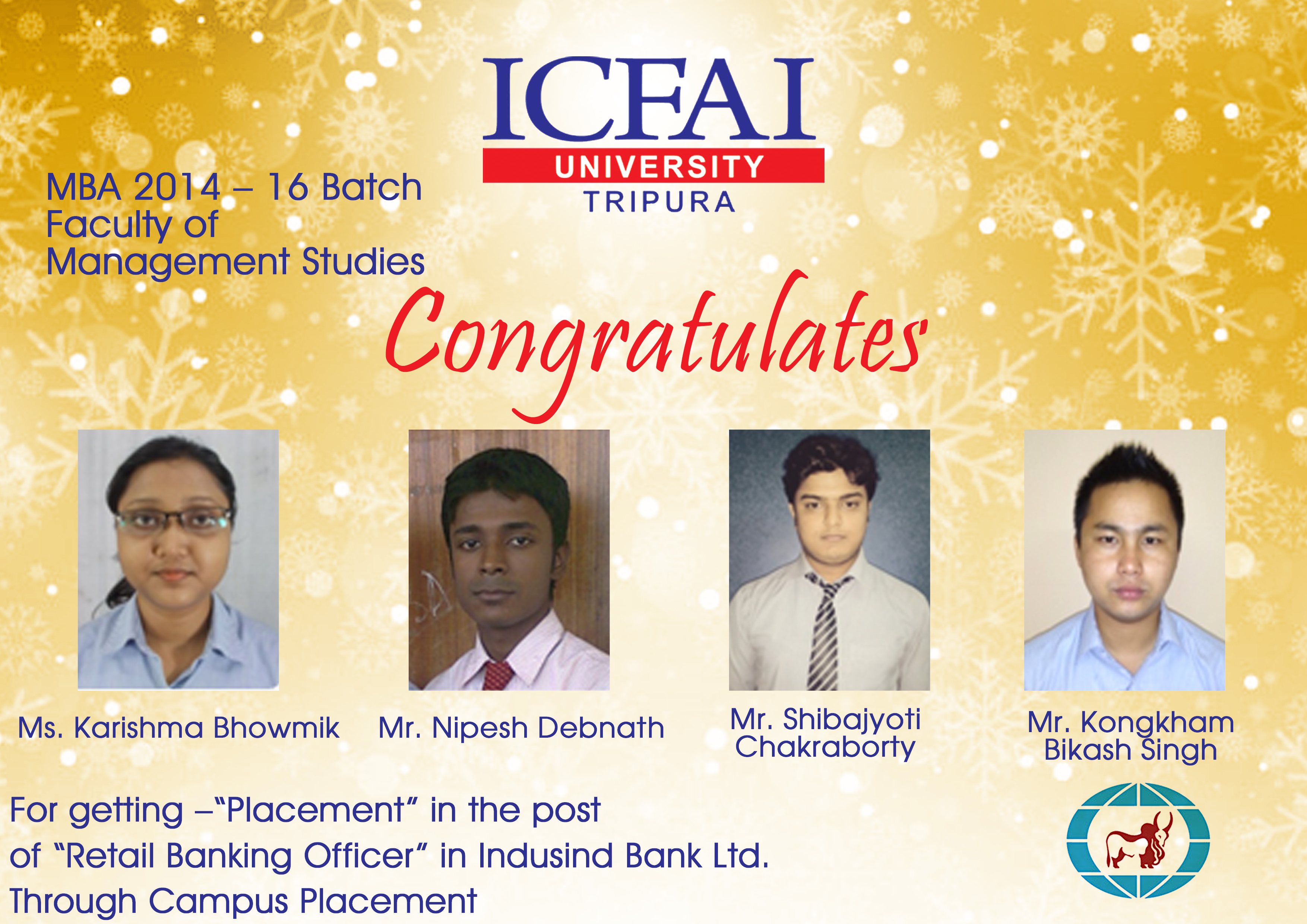 Placements | The ICFAI University Tripura | Full-time Campus