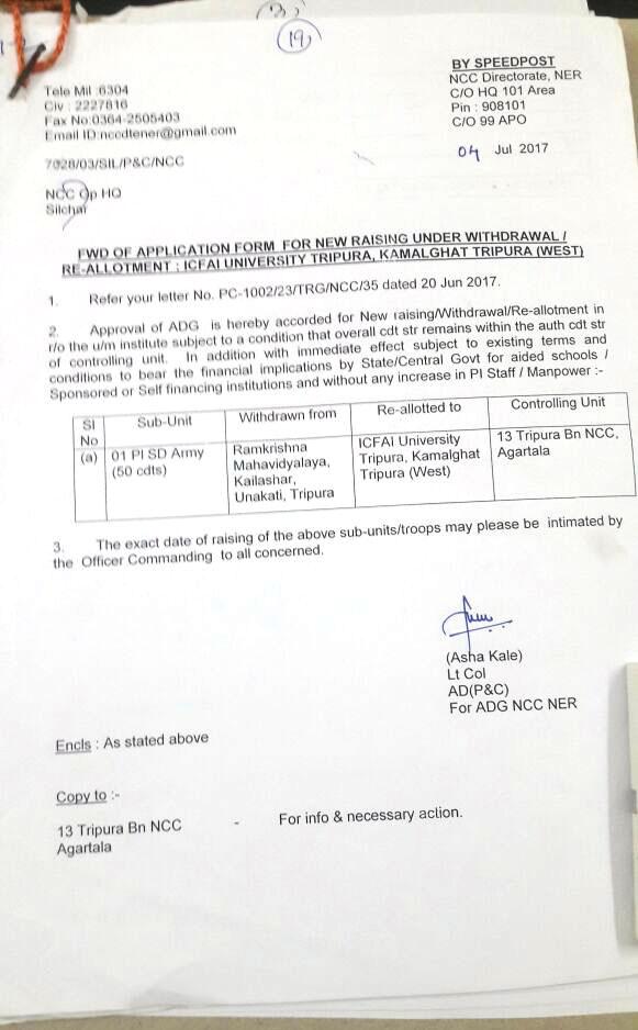 Recognitions & Accreditations | The ICFAI University Tripura | Full